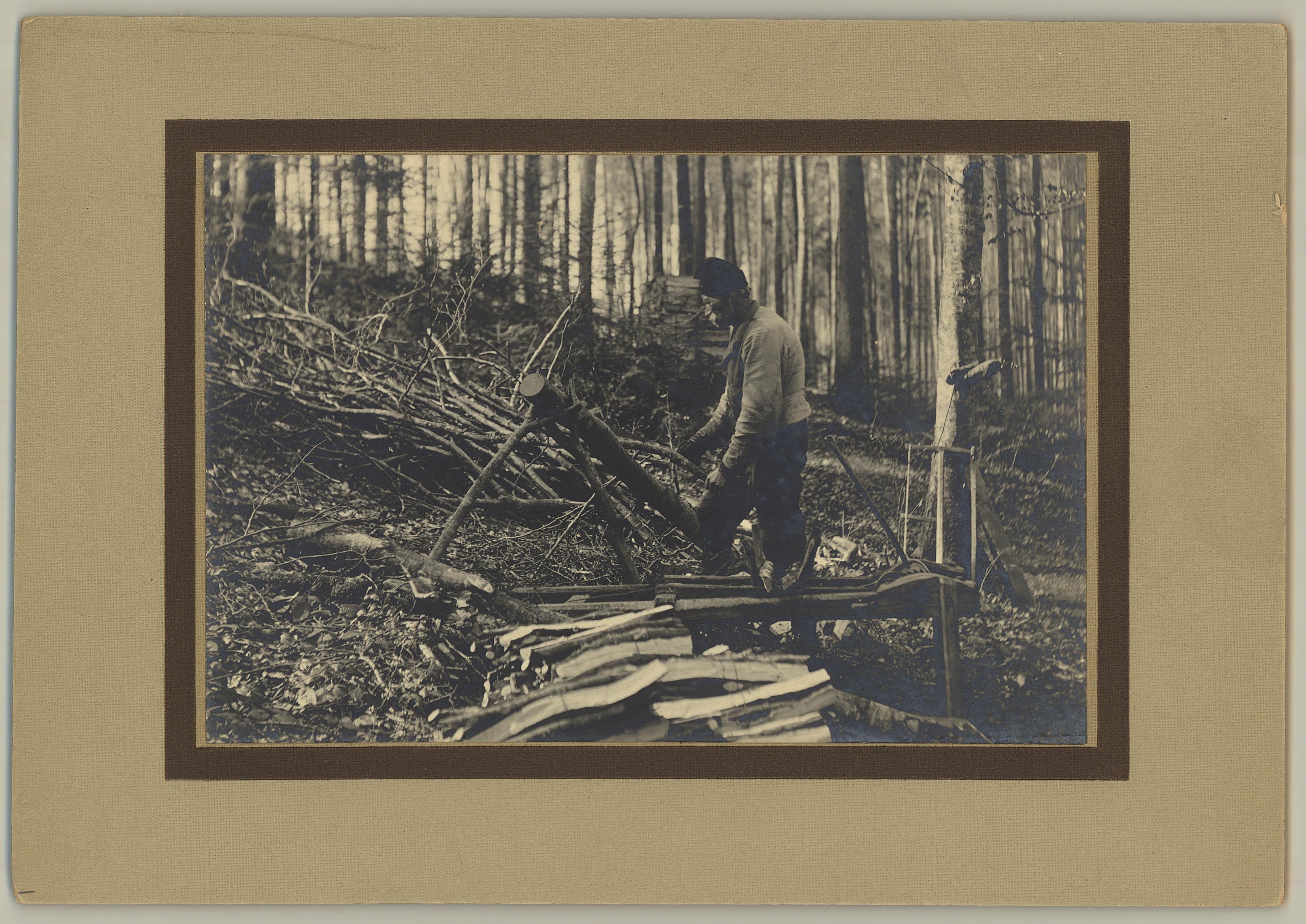 Waldarbeiter Zbinden -1918